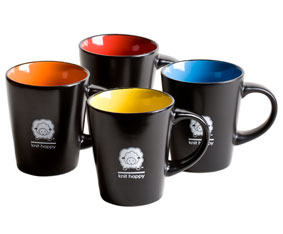 Knit Happy Bright Sip Mugs