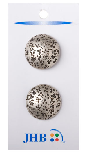 Cloverfield Buttons - Antique Silver