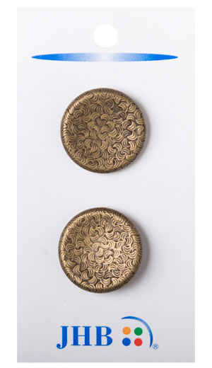 Curve Imprints Buttons - Antique Brass