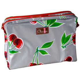 Chic-a Double Zipper Pouch Medium