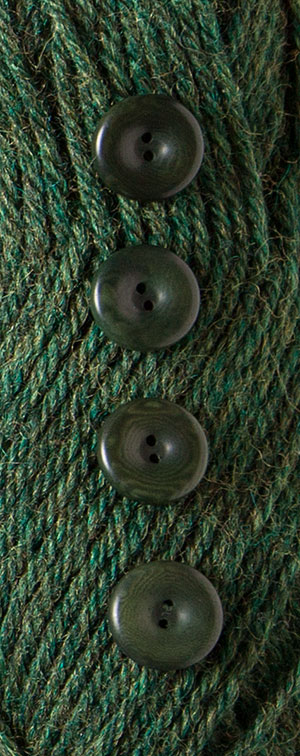 Forest Heather Dyed to Match Buttons