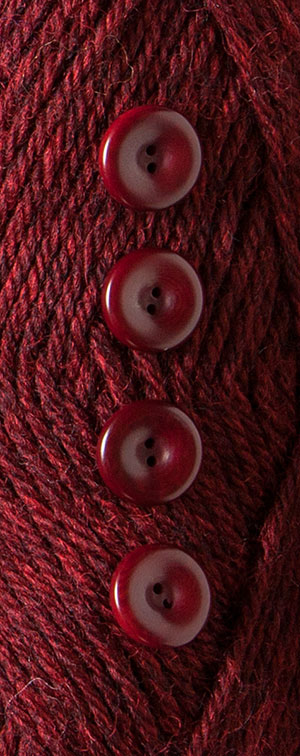 Garnet Heather Dyed to Match Buttons