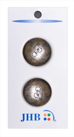 Flower Holes Button - Nickel