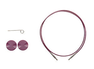 Options Interchangeable Circular Knitting Needle Cables - Purple single pack