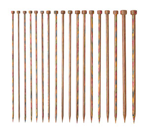 Straight Rainbow Knitting Needle Sets