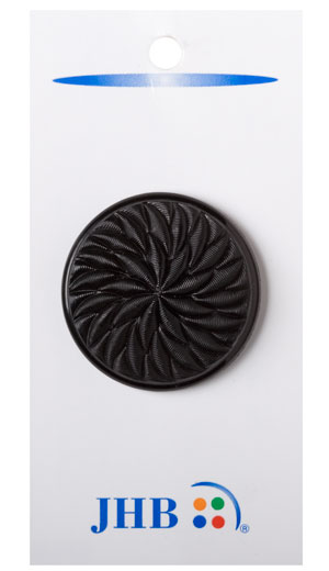 Twisted Flower Buttons - Black