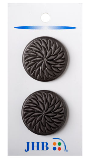 Twisted Flower Buttons - Hematite