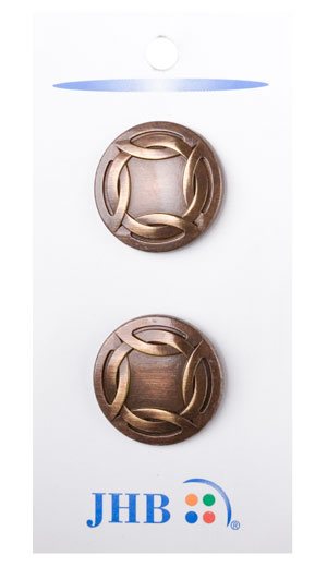 Woven Rim Buttons - Antique Copper