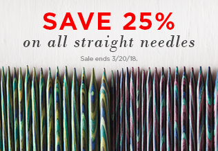 Needle Sale - All Straight Needles on Sale!