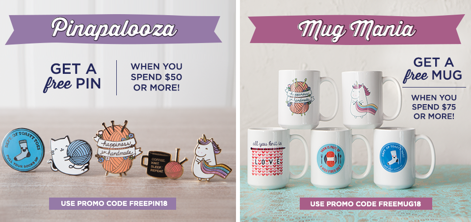 Free Pin with $50 Purchase or Free Mug with $75 Purchase!
