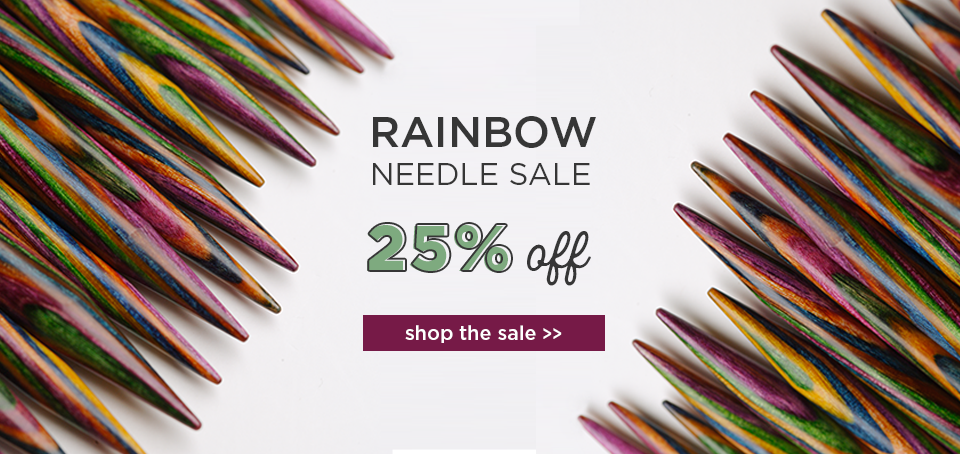 Rainbow Needle Sale -- 25% Off