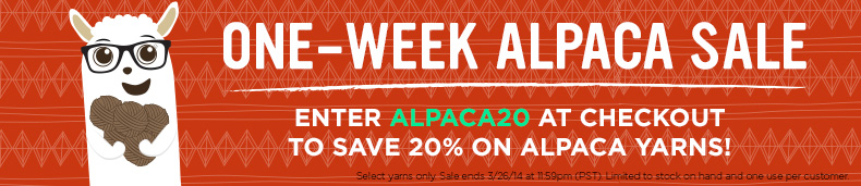 One Week Alpaca Sale