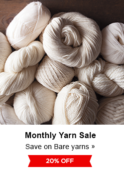 Monthly Yarn Sale - Save 20% on Bare Yarns