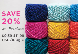 Monthly Yarn Sale - Save 20% on Preciosa Yarn