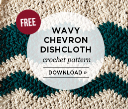 Wavy Chevron Dishcloth