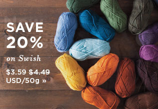 Monthly Yarn Sale - Save 20% on Swish Yarns