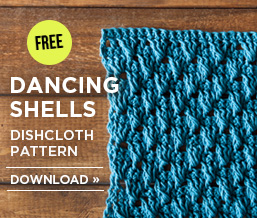 Dancing Shells Dishcloth
