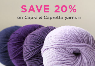 Monthly Yarn Sale - Save 20% on Capra and Capretta Yarn