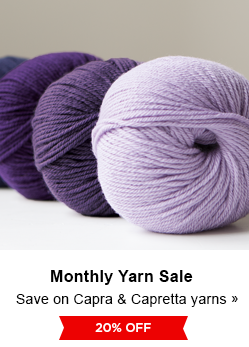 Monthly Yarn Sale - Save 20% on Capra and Capretta Yarns