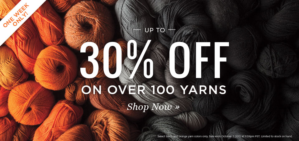 Black + Orange Yarn Sale