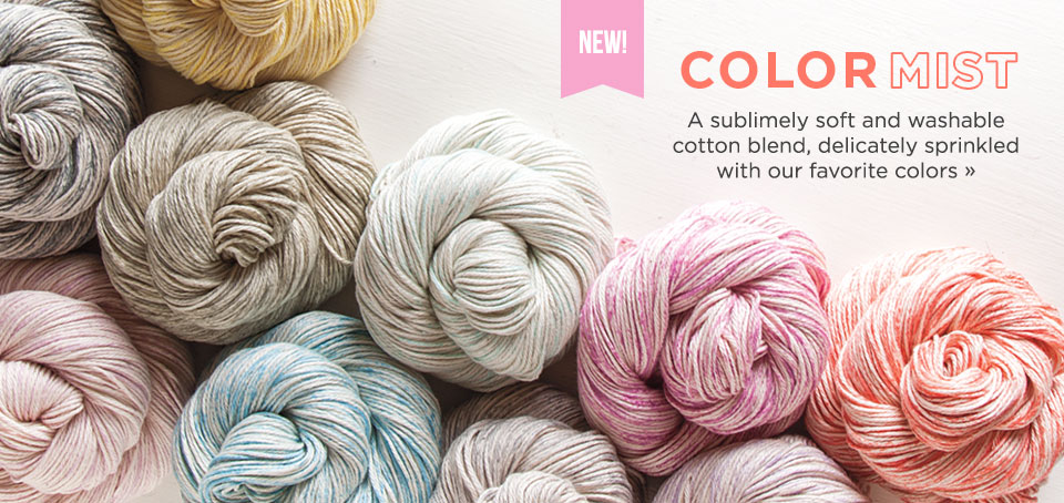 New cotton yarn - Color Mist from knitpicks.com
