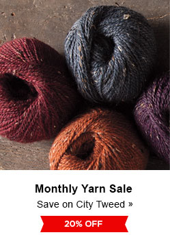 Monthly Yarn Sale - Save 20% on City Tweed Yarns