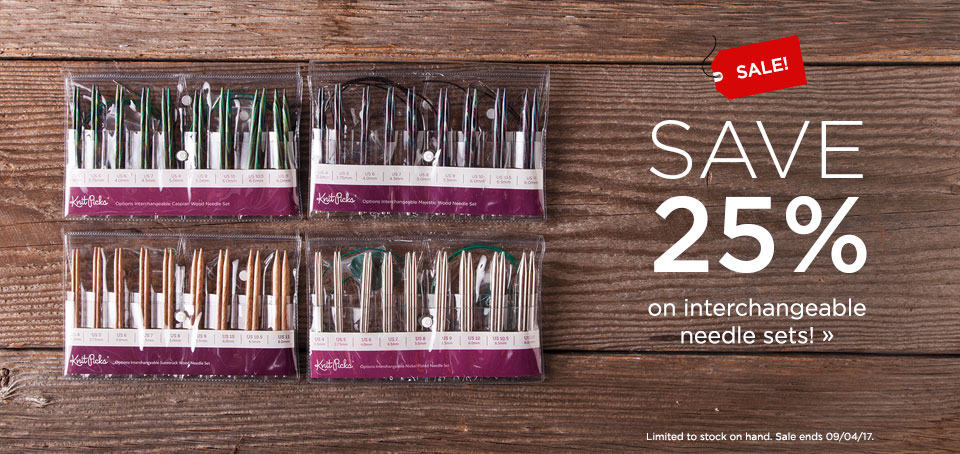 Needle Set Sale - Save 25% on Interchangeable Needle Sets!