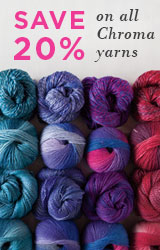 Monthly Yarn Sale - Save 20% off Chroma Yarns