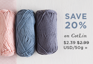 Monthly Yarn Sale - Save 20% on CotLin Yarn