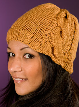 Large Side Cable Hat Pattern