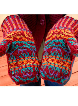Jewelled Prism Mittens Pattern