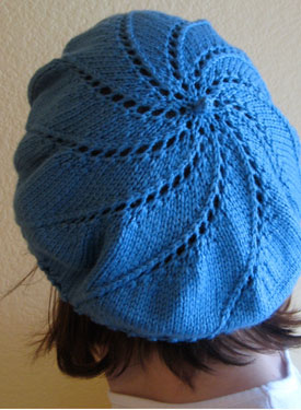 Beret Knit Pattern Free Easy : Whirlpool Beret Pattern - Knitting Patterns and Crochet ...