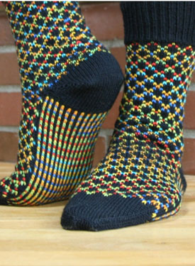 TicTac Toes Socks Pattern