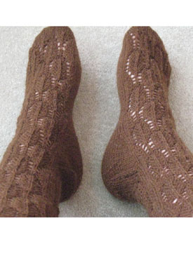 Feather Lace Socks Pattern