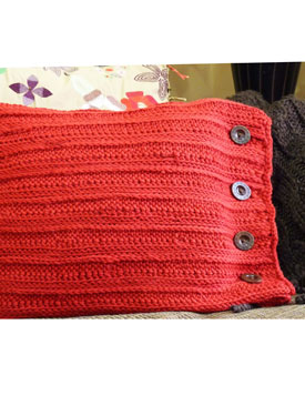 Channel Rib Crochet Pillow Pattern