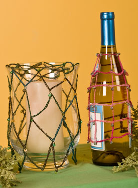 Bottle & Candle Covers Crochet Pattern