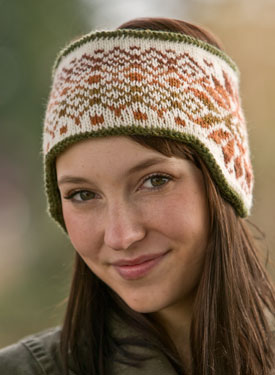 Klondike and Snow Reversible Fair Isle Headband Pattern