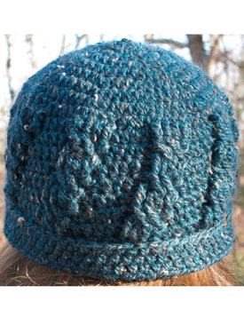 Simple Cable Crochet Hat