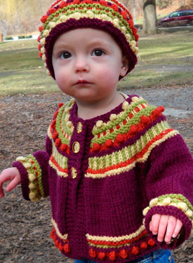 Norah's Joyful Sweater & Hat