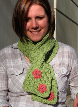 Basketweave Spring Crochet  Scarf Pattern