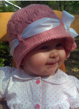 Knitting Pattern Baby Hat 4 Ply : The Cora Cloche - Knitting Patterns and Crochet Patterns ...