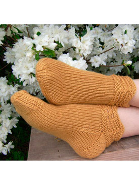 Amber Waves Slipper Socks