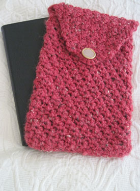 Crocheted eBook Reader Case
