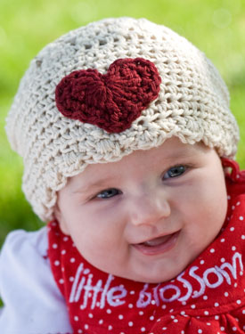 Sweet-Heart Crochet Infant Hat
