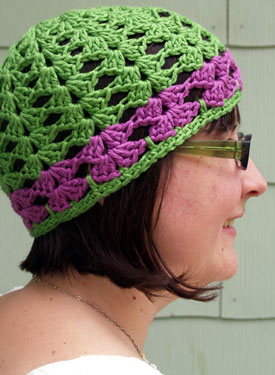 Lacy Shells Crochet Hat