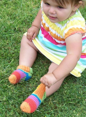 Baby Slipper Crochet Socks