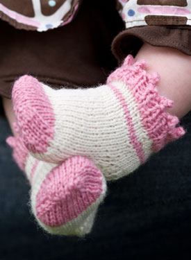 Picot & Windmill Infant Socks