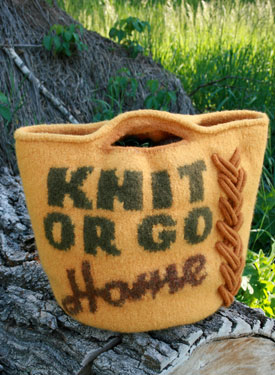 Knit or Go Home Bag
