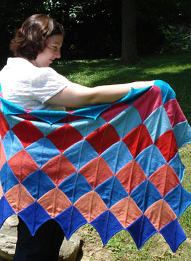 Summer Diamonds Shawl