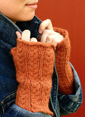 Delicate: Dutch Braids Fingerless Gloves
